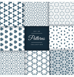 Amazing set of abstract patterns in floral style vector