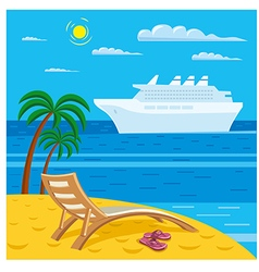 beach relax vector image vector image