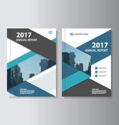 Blue black annual report leaflet brochure flyer vector