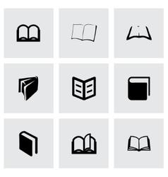 book icon set vector image vector image