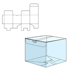 Box die cut vector