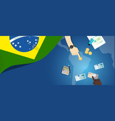 Brazil fiscal money trade concept of vector