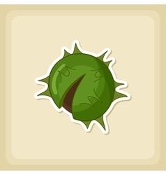 Chestnut icon harvest thanksgiving vector