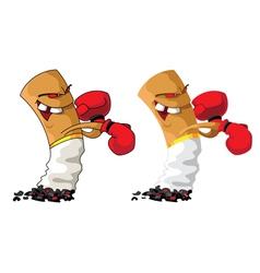 cigarette boxer set vector image