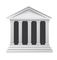 Columns building vector image