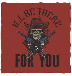 Cowboy t-shirt label design vector