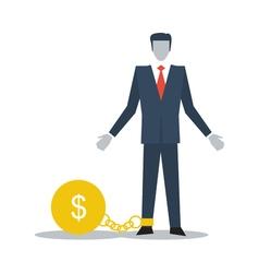 Credit debt business crisis finance limitations vector