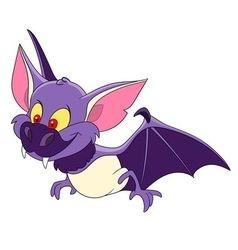Cute bat on halloween vector
