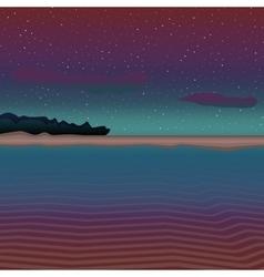 Dark sea landscape vector