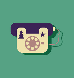 Flat icon design collection landline phone in vector