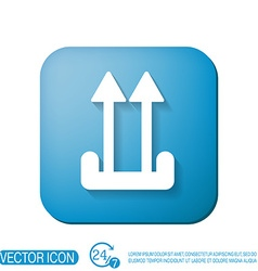 Fragile symbol arrow up logistic icon vector image vector image