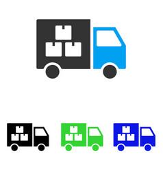 Goods transportation car flat icon vector