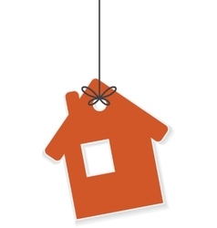 Icon of house hanging on a rope vector image vector image