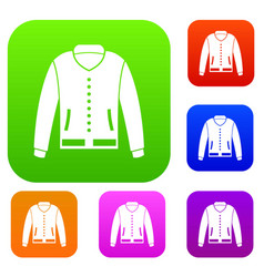 jacket set color collection vector image vector image