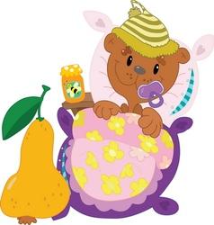 Little bear vector image