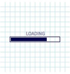 Loading progress status bar icon web design app vector