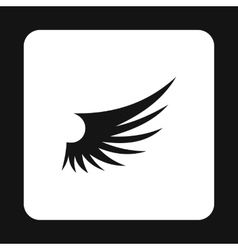 Long birds wing with feathers icon simple style vector image vector image