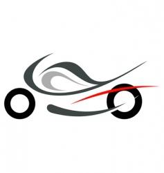motorcycle sportbike vector image vector image