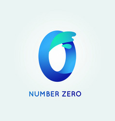 Number zero in trend shape style vector