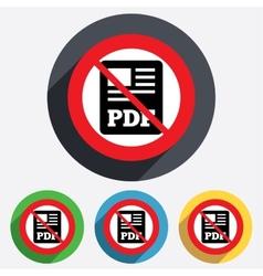 Pdf file document icon no download pdf button vector