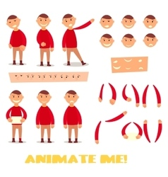 Pupil character for your scenes Parts of body vector image