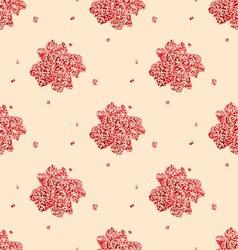 seamless red zvetok rvanyj vector image vector image