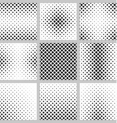 Set of nine square pattern designs vector