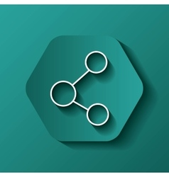 share icon Communication design over hexagon vector image