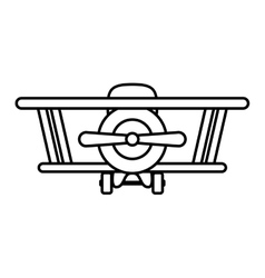Silhouette airplane toy flat icon vector