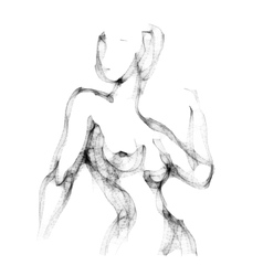 Silhouette of beautiful nude woman vector image