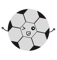 soccer balloon kawaii character vector image
