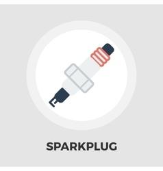 Sparkplug icon flat vector