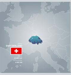 switzerland information map vector image