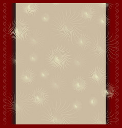 Template for a certificate with beige red border vector