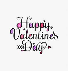 valentines day vintage card lettering background vector image