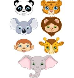 Wild Animal Faces vector image