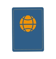 Passport travel trip design vector