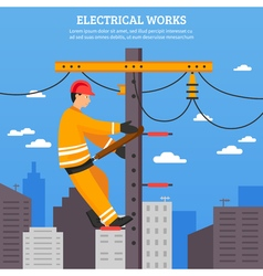 Electrical Works Flat vector image