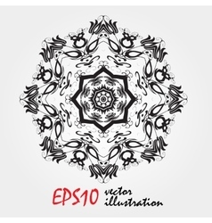 Mandala highly detailed zentangle inspired vector