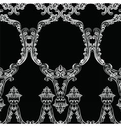 Rococo frame decor pattern vector