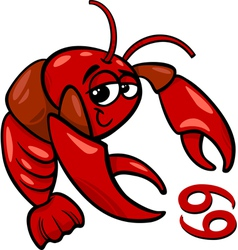 Cancer or the crab zodiac sign vector