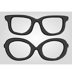 Two glasses cartoon style isolated on gray backgro vector