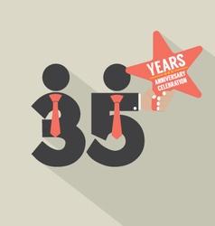 35 years anniversary typography design vector
