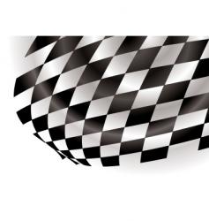 Checkered corner vector