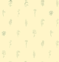 Sparse pattern with flowers vector