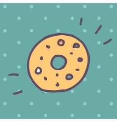 Flat icon of donut vector