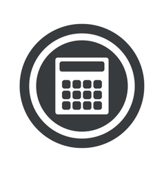 Round black calculator sign vector