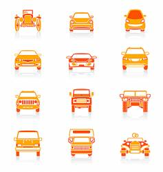 car icons  juicy series vector image