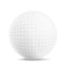 Ball for the game of golf vector image vector image
