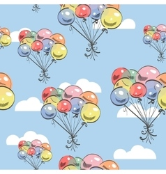Balloons backgrond vector
